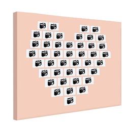 Foto na plátno Srdce z fotek 120x80 cm
