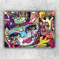 Foto na plátno Cat art 120x80 cm
