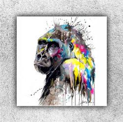 Foto na plátno Gorila art 70x70 cm