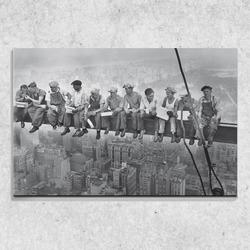 Foto na plátně Dělníci na traverze 90x60 cm