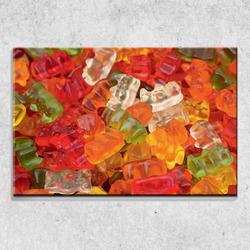 Foto na plátně Gumový medvídci 90x60 cm