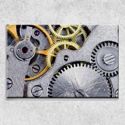 Foto na plátně Hodinový strojek 90x60 cm