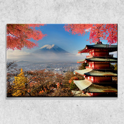 Foto na plátně Hora Fudži 90x60 cm