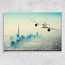 Foto na plátně Letadlo Dubai 90x60 cm