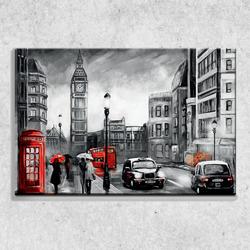 Foto na plátně Londýn art 90x60 cm