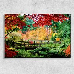 Foto na plátně Podzimní park 90x60 cm