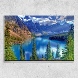 Foto na plátně Rybník 90x60 cm