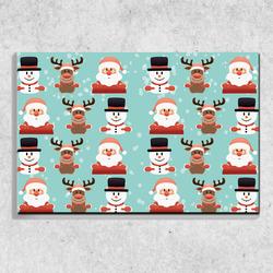 Foto na plátně Vánoční panáčci 90x60 cm