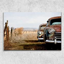Foto na plátně Vrak auta 90x60 cm