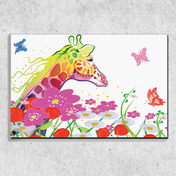 Foto na plátně Žirafa art 90x60 cm