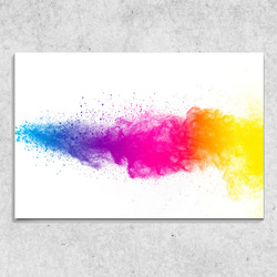 Foto na plátně Barevná exploze 90x60 cm