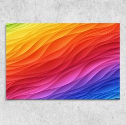 Foto na plátně Barevné vlny 90x60 cm