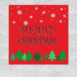 Obraz 30x30 Merry christmas