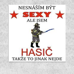 Obraz 30x30 Sexy hasič