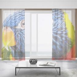 Záclony Barevný papoušek