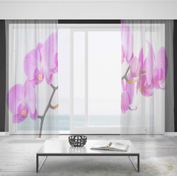 Záclony Fialová orchidej