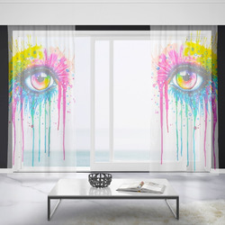 Záclony Oko art