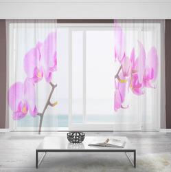 Záclony Růžová orchidej