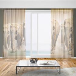 Záclony Stádo slonů