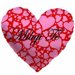 Polštářek srdcový - Miluji tě