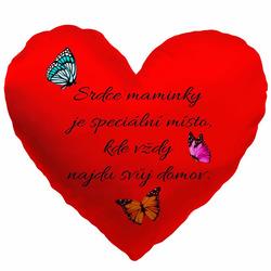 Polštářek srdcový-Srdce maminky