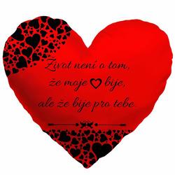 Polštářek srdcový - Moje srdce