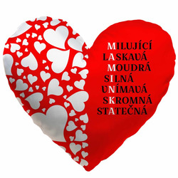 Polštářek srdcový - Maminka tajenka