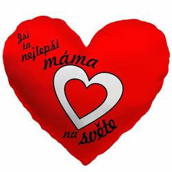 Polštářek srdcový-Nejlepší máma