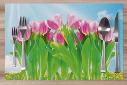 Prostírání Tulipány růžové 42x28 cm