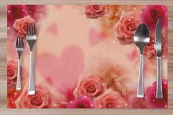 Prostírání Srdce a růže 42x28 cm