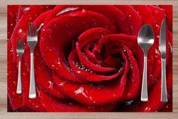 Prostírání Červená růže 42x28 cm