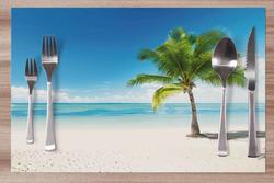 Prostírání Pláž s palmou 42x28 cm