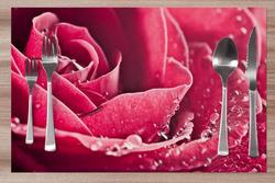 Prostírání Orosená růže 42x28 cm