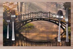 Prostírání Most v parku 42x28 cm
