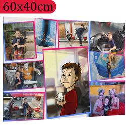 Foto na plátno ∞ fotografií a textů 60x40 cm