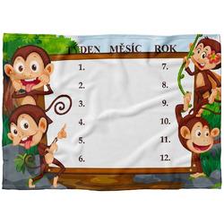 Deka milníková-Opičky