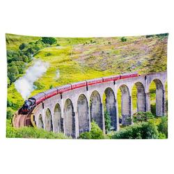 Tapestr Lokomotiva na mostě