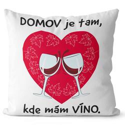 Polštář Domov a víno
