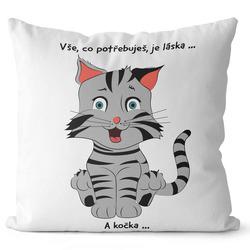 Polštář Potřebuješ kočku