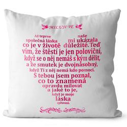 Polštář Milostný citát - pro ženy