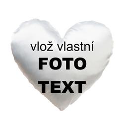 Polštář z vlastních fotek srdce 36x36cm