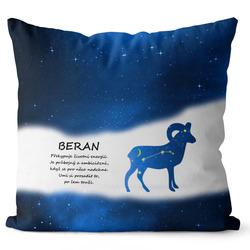 Polštář Beran (21.3. - 20.4.) - modrý