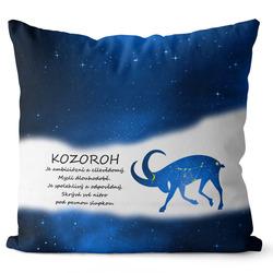 Polštář Kozoroh (22.12. - 20.1.) - modrý