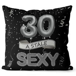 Polštář Stále sexy – černý