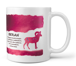 Hrnek Beran (21.3. - 20.4.) - červený