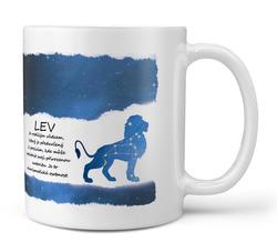 Hrnek Lev (23.7. - 22.8.) - modrý