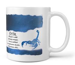 Hrnek Štír (23.10. - 22.11.) - modrý