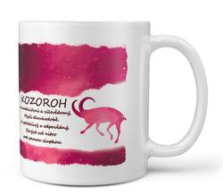 Hrnek Kozoroh (22.12. - 20.1.) - červený