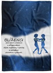 Deka Blíženci (22.5. - 21.6.) - modrá