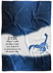 Deka Štír (23.10. - 22.11.) - modrá